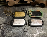 Military Dog Tag Key Chain